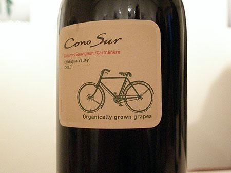 自転車ラベルのワイン