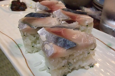 しめ鯖の押し寿司
