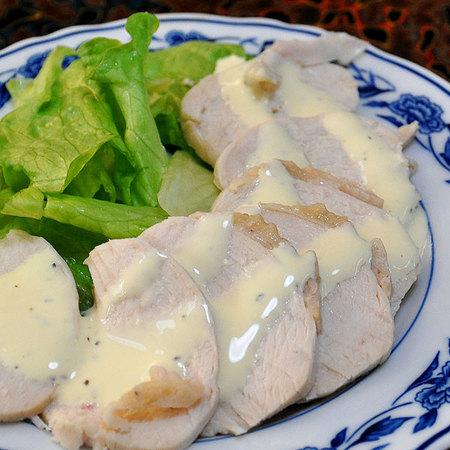 バーニャカウダのたれで作った鶏ハム