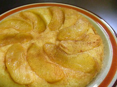 リンゴのホットケーキ