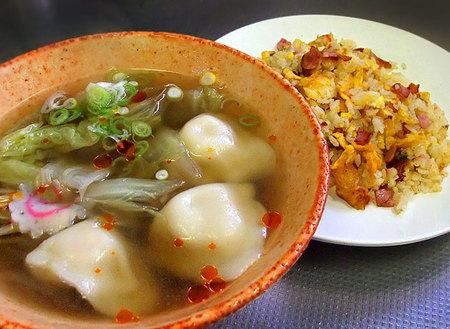 餃子スープ with チャーハンw